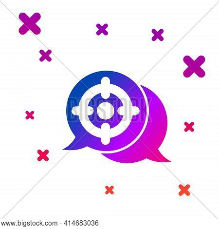 Color Target Sport Icon Isolated On White Background. Clean Target With Numbers For Shooting Range O