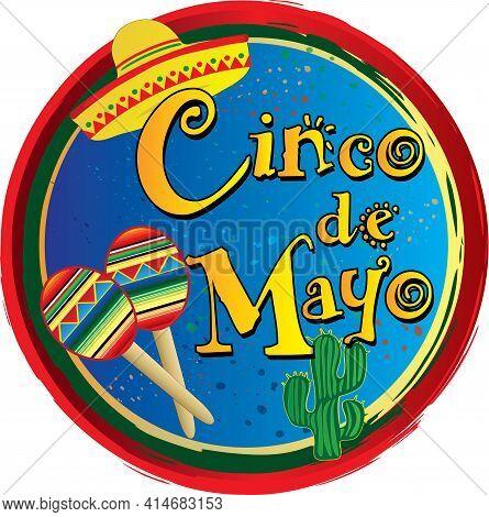Cinco De Mayo Colorful Background Logo Design