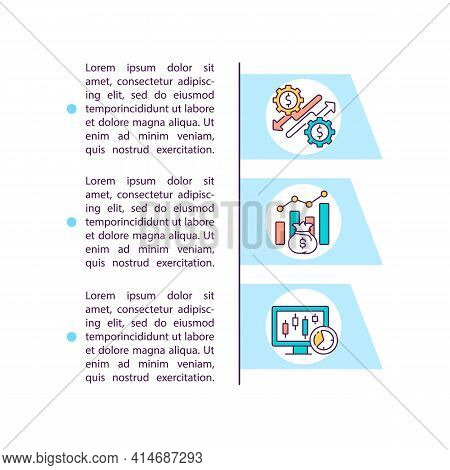 Active Trading Vs Day Trading Concept Line Icons With Text. Ppt Page Vector Template With Copy Space