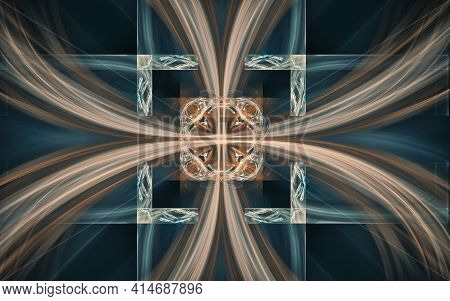 Abstract Illustration Background Image Patterns In The Form Of Lines And Geometric Shapes Intersecti