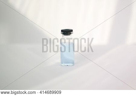 Medical Ampoule For Injection Isolated On White Background. Medicines And Disease Treatment, Pharmac