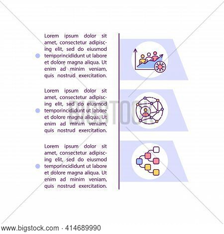 Increased Transmissibility Concept Line Icons With Text. Ppt Page Vector Template With Copy Space. B