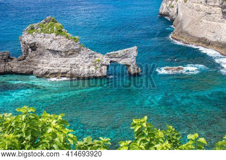 Beautiful Landscape Of Atuh Beach At Nusa Penida, Bali, Indonesia.