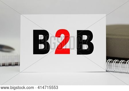B2b. Office Workplace With Supplies And Reports . Selective Focus. You Can Use In Business, Marketin