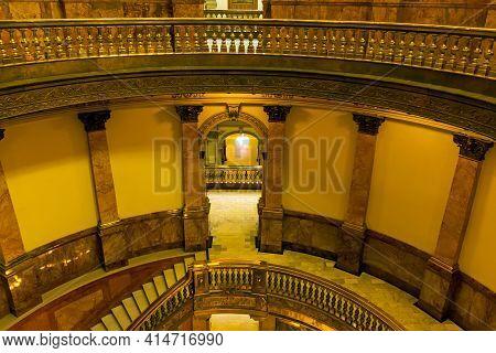 Denver,co - September 10,2019:the Interior Of The Capitol Building In Denver, Colorado.