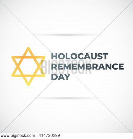 Concept Design With Star Of David For International Holocaust Remembrance Day. Vector Banner.
