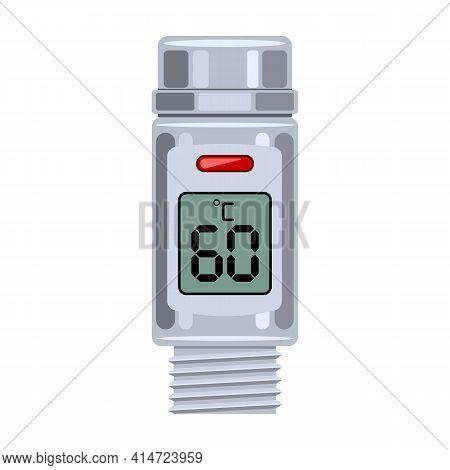 Temperature Vector Icon.cartoon Vector Icon Isolated On White Background Temperature.