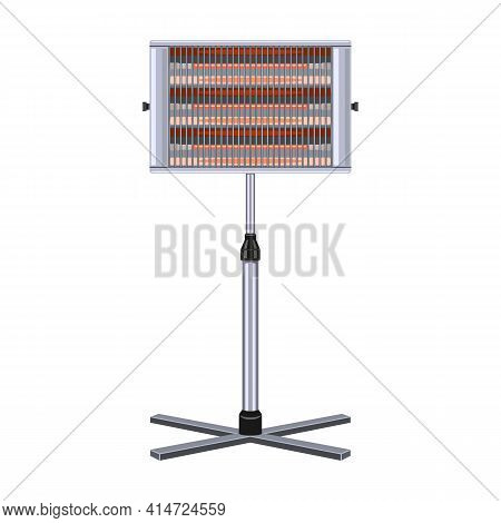 Electric Heater Vector Icon.cartoon Vector Icon Isolated On White Background Electric Heater.