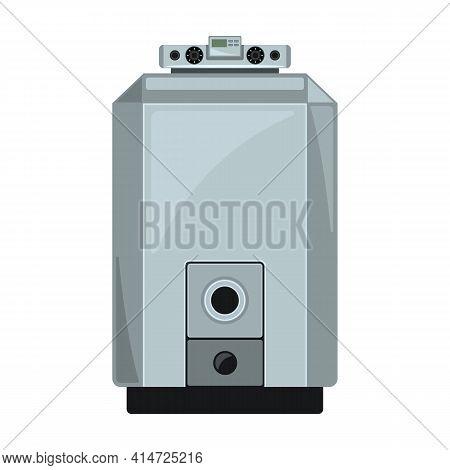 Gas Boiler Vector Icon.cartoon Vector Icon Isolated On White Background Gas Boiler.