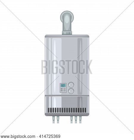 Water Boiler Vector Icon.cartoon Vector Icon Isolated On White Background Water Boiler.