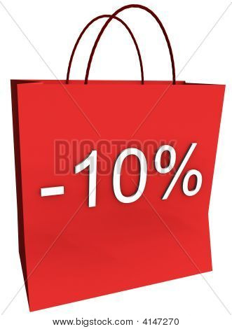 10 Percent Off Shopping Bag