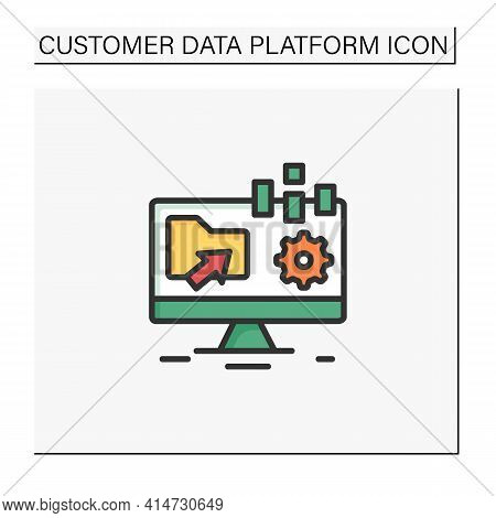 Collect Data Offline Color Icon. Apps Include Forms Are Created Online And Can Be Filled Without Int
