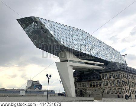 The Antwerp Port Authority, Or Port House, Havenhuis, Designed By Iraqi-british Architect Zaha Hadid