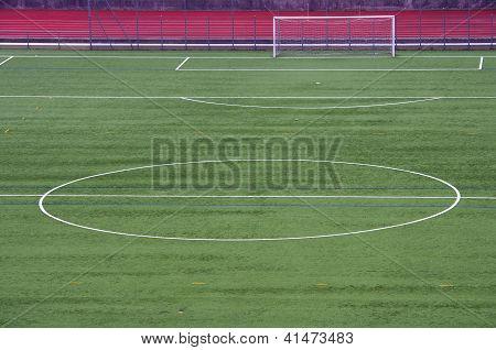 Half of a soccer field