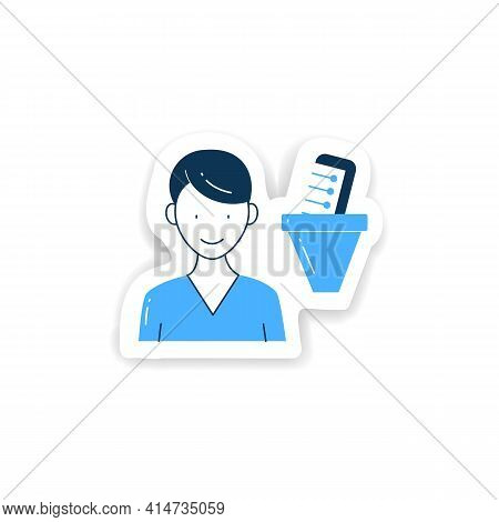 Information Filtering System Sticker. Filtering Information, Searching For Truthful Info Badge For D