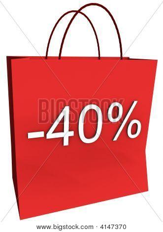 40 Percent Off Shopping Bag