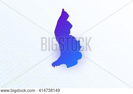 Map Icon Of Liechtenstein. Colorful Gradient Map On Light Background. Modern Digital Graphic Design.