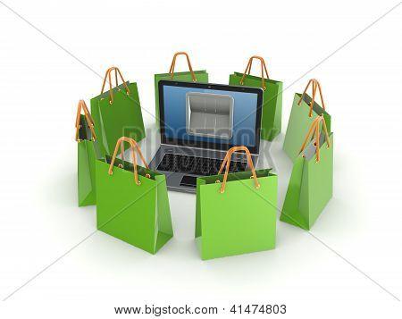 Online payments concept.