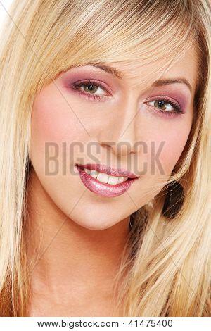 Face Of Blond Girl