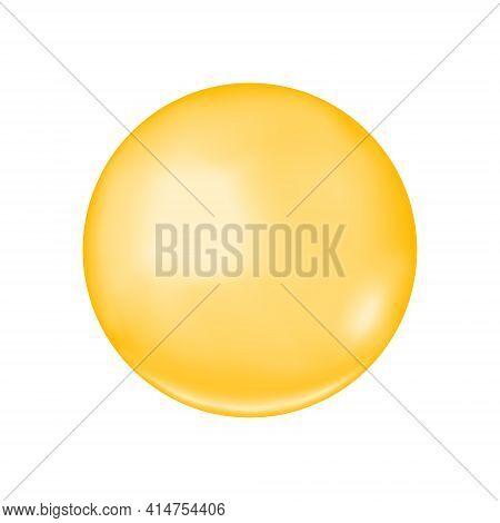 Golden Glossy Bubble. Collagen Drop, Keratin, Serum, Jojoba Cosmetic Oil, Vitamin A Or E, Omega Fatt
