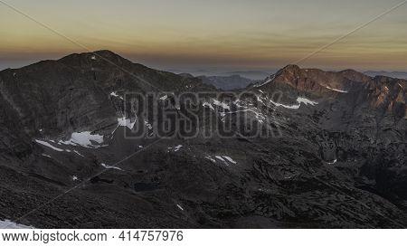 Chiefs Head Peak, Mchenrys Peak, Spearhead, Green Lake, Italy Lake, Frozen Lake, Looking Down From T