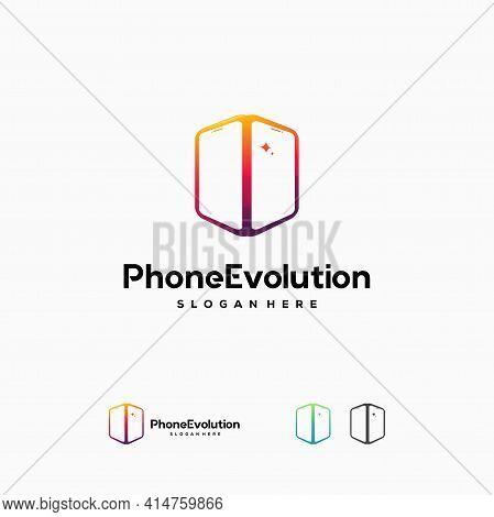 Phone Evolution Logo Designs Concept Vector, Phone Logo Icon