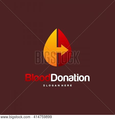 Modern Blood Donor Logo Designs Concept Vector, Blood Transfusion Logo Template, Droplet Symbol Icon