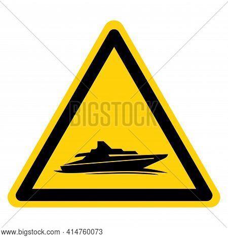 Cruiser Boat Symbol Sign,vector Illustration, Isolate On White Background Label. Eps10