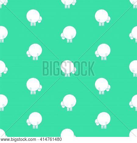 Sheep Ass Pattern Seamless. Ram Back Background. Animal Vector Texture