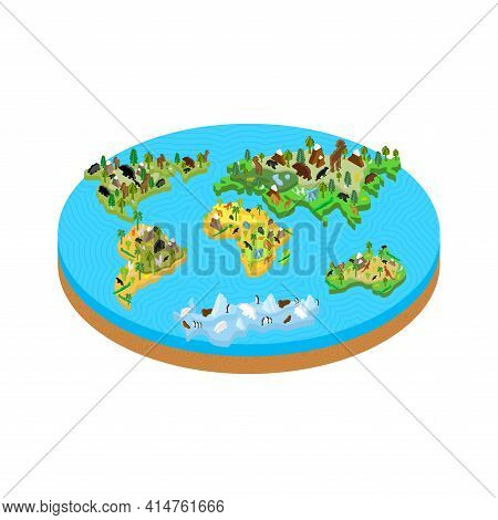 Flat Earth Outdated Hypothesis That The Earth Is A Flat Disk. The Concept Of A Flat Earth Was Presen