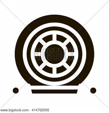 Evacuation Tool Glyph Icon Vector. Evacuation Tool Sign. Isolated Symbol Illustration