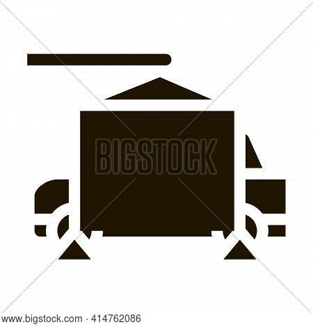 Evacuating Car Glyph Icon Vector. Evacuating Car Sign. Isolated Symbol Illustration