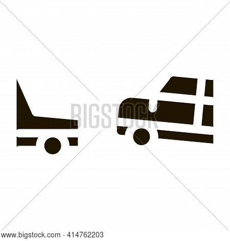 Evacuate Vehicle Glyph Icon Vector. Evacuate Vehicle Sign. Isolated Symbol Illustration
