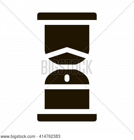 Sand Hourglass Glyph Icon Vector. Sand Hourglass Sign. Isolated Symbol Illustration