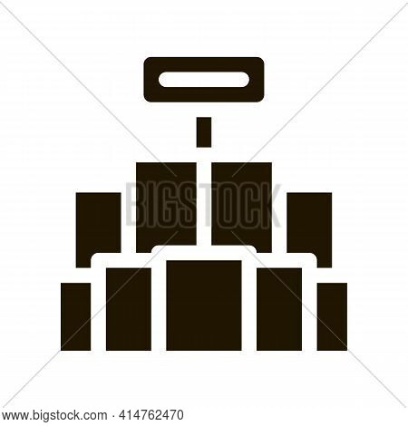 Promo Stand Glyph Icon Vector. Promo Stand Sign. Isolated Symbol Illustration