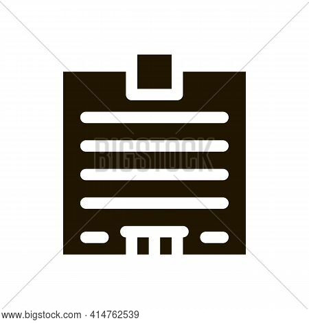 Skyscraper House Glyph Icon Vector. Skyscraper House Sign. Isolated Symbol Illustration