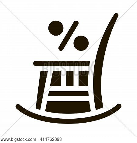 Rocking Chair Glyph Icon Vector. Rocking Chair Sign. Isolated Symbol Illustration