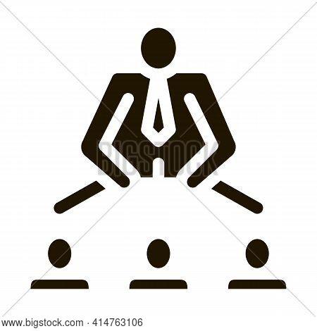 Man Leadership Glyph Icon Vector. Man Leadership Sign. Isolated Symbol Illustration