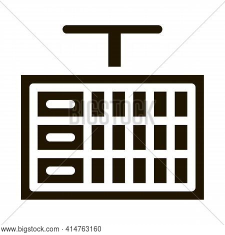 Game Scoreboard Glyph Icon Vector. Game Scoreboard Sign. Isolated Symbol Illustration