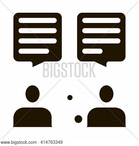 Interview Discuss Glyph Icon Vector. Interview Discuss Sign. Isolated Symbol Illustration