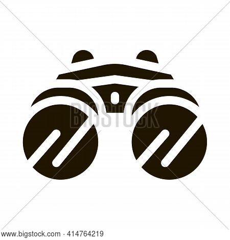Binocular Tool Glyph Icon Vector. Binocular Tool Sign. Isolated Symbol Illustration
