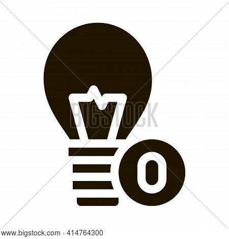 Lightbulb Lamp Glyph Icon Vector. Lightbulb Lamp Sign. Isolated Symbol Illustration
