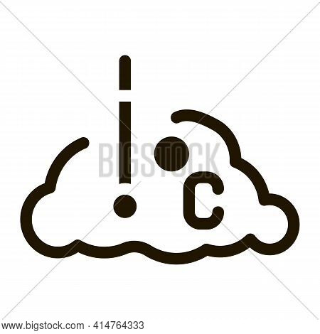 Temperature Cloud Glyph Icon Vector. Temperature Cloud Sign. Isolated Symbol Illustration