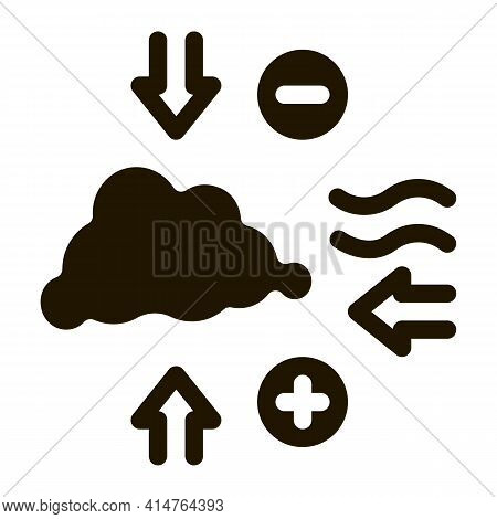 Air Pressure Glyph Icon Vector. Air Pressure Sign. Isolated Symbol Illustration