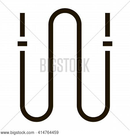 Jump Rope Glyph Icon Vector. Jump Rope Sign. Isolated Symbol Illustration