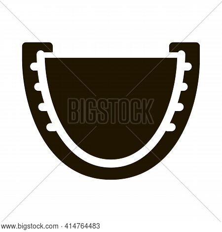 Capa Boxer Glyph Icon Vector. Capa Boxer Sign. Isolated Symbol Illustration