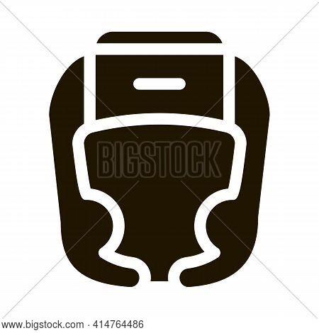 Boxer Helmet Glyph Icon Vector. Boxer Helmet Sign. Isolated Symbol Illustration