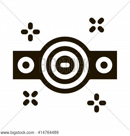 Championship Belt Glyph Icon Vector. Championship Belt Sign. Isolated Symbol Illustration