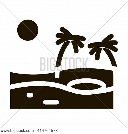 Sandy Landscape Glyph Icon Vector. Sandy Landscape Sign. Isolated Symbol Illustration