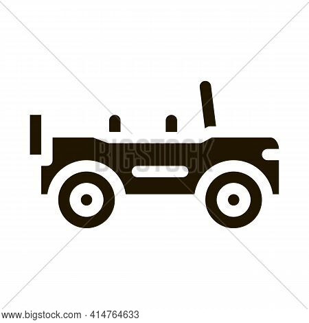 Automobile Glyph Icon Vector. Automobile Sign. Isolated Symbol Illustration